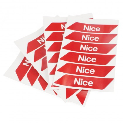 Nice WA10 red adhesive reflector strips for automatic barrier