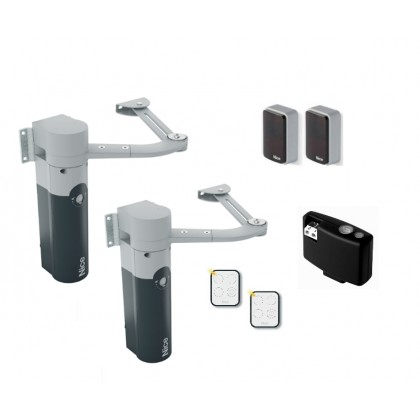 Nice WalkyKit 2024 24Vdc articulated arm kit for swing gates up to 1.8m