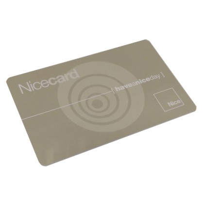 Nice MOCARDP Transponder card for multiple entry